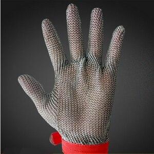 Image 2 - قفازات عمل مقاومة للقطع من الفولاذ المقاوم للصدأ