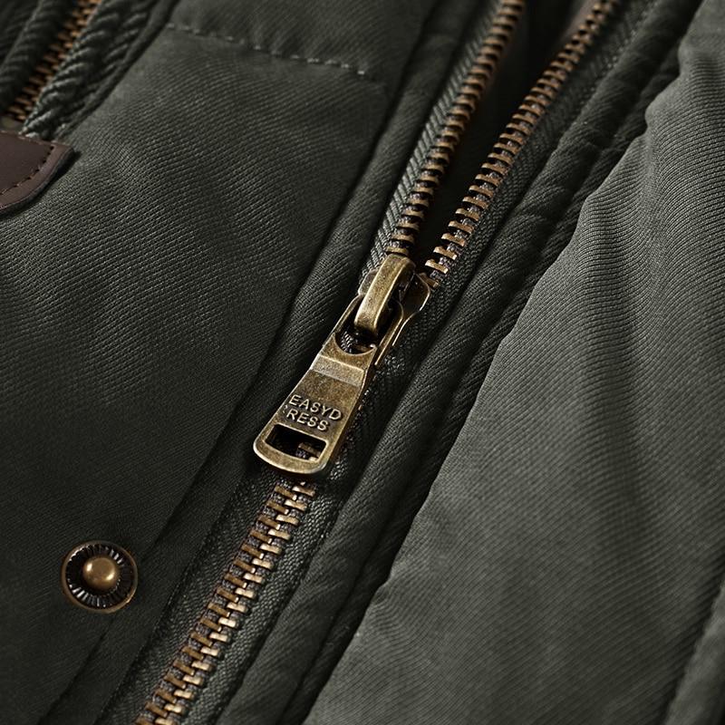 Homme hiver veste grande taille 6XL 7XL 8XL épais chaud Parka polaire fourrure à capuche militaire veste poches coupe-vent veste hommes - 6