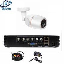 SSICON 4CH 1080N AHD DVR Kit CCTV System 1pc 1080P AHD Bullet Fisheye IR Security Camera 2MP Outdoor Security Surveillance Set