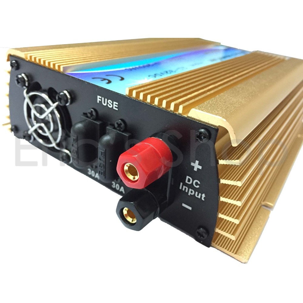 Online color invert picture - 600w Grid Tie Inverter Dc11v 32v To Ac220v Pure Sine Wave Inverter Use For 18v Panel 36cells 50hz 60hz Golden Color