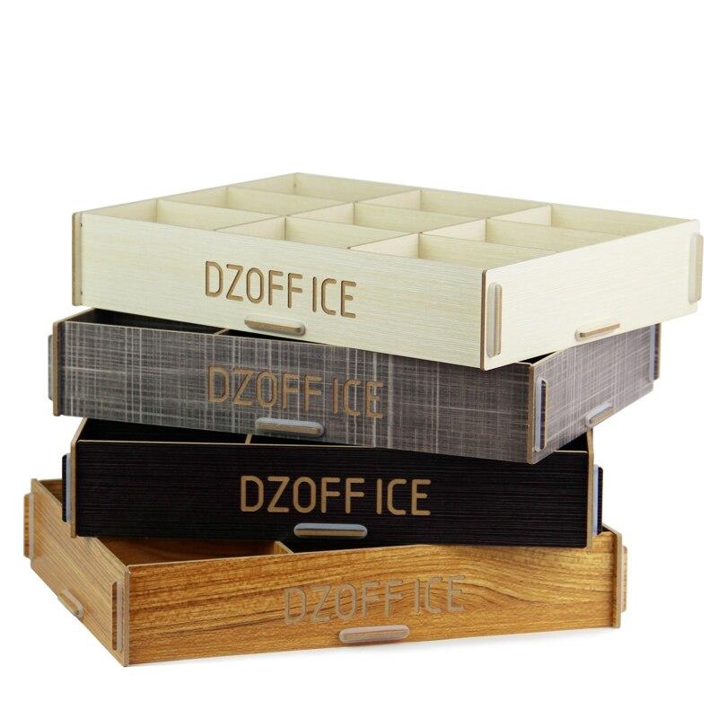 Multi-usages 9 Plaids boîte de rangement en bois boîte de rangement lingerie divers cosmétiques bijoux affichage boîte de Collation