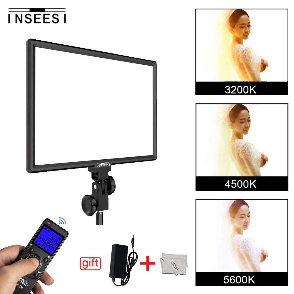 DANS-600 Bi-Couleur 3200 k-5600 k Dimmable LED Vidéo Lumière LCD Affichage DSLR Studio LED lampe Panneau pour Canon Nikon Caméra DV Caméscope