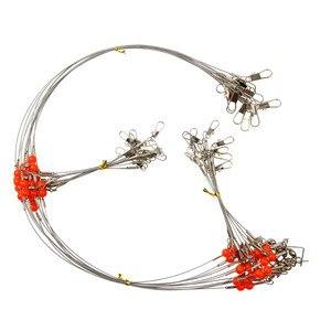 36 pcs 62 cm Anti Bite Staal fishing Wire Leader Met Swivel snap toonaangevende lijn Leash voor vissen accessoires(China)