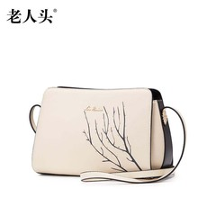 LAORENTOU new genuine leather bag brand  fashion small bag Superior cowhide leather Casual women shoulder messenger bag
