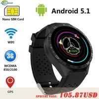 KW88 Kingwear Android 5 1 Smart Watch Phone MTK6580 quad core 1 3GHZ 4GB ROM 512MB