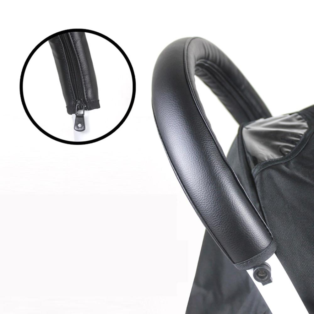 Baby Stroller Pu Tahan Air Sandaran Tangan Front Handle Bar Grip Pelindung Zipper Cover Aksesoris Intl Tiongkok