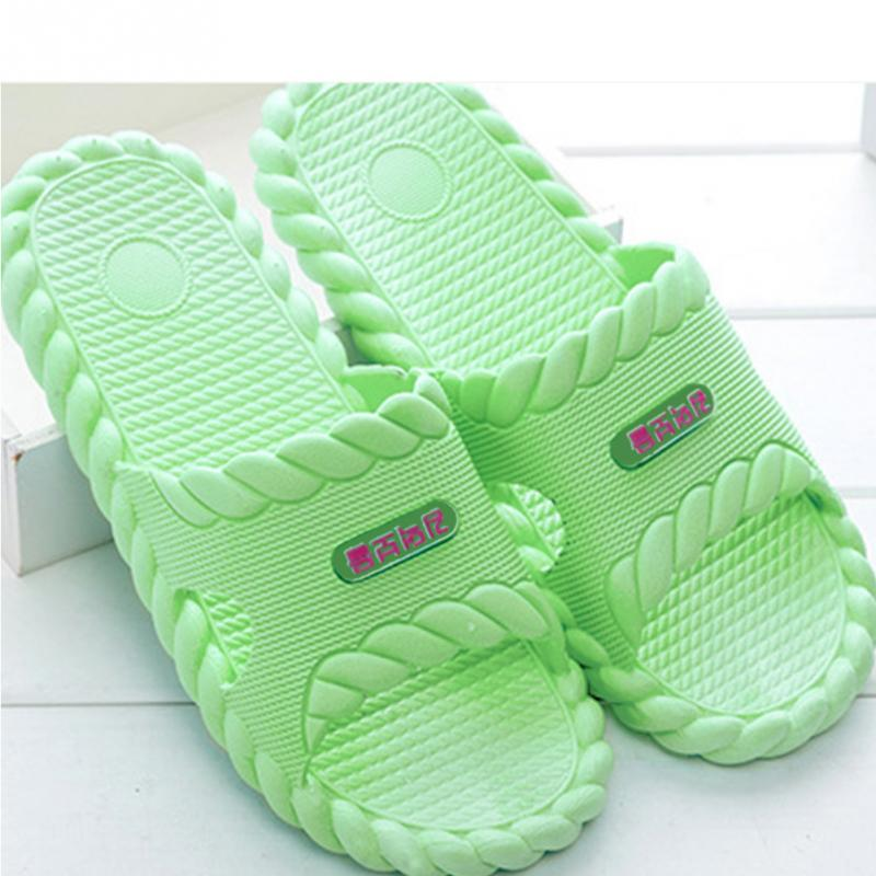 2018 New Female Women Candy Color Flat Slippers Home Shower Slippers Summer Sandals Non-slip Indoor & Outdoor Shoes animal prints home slippers summer women slippers linen indoor shoes non slip breathable slippers home female cool sandals