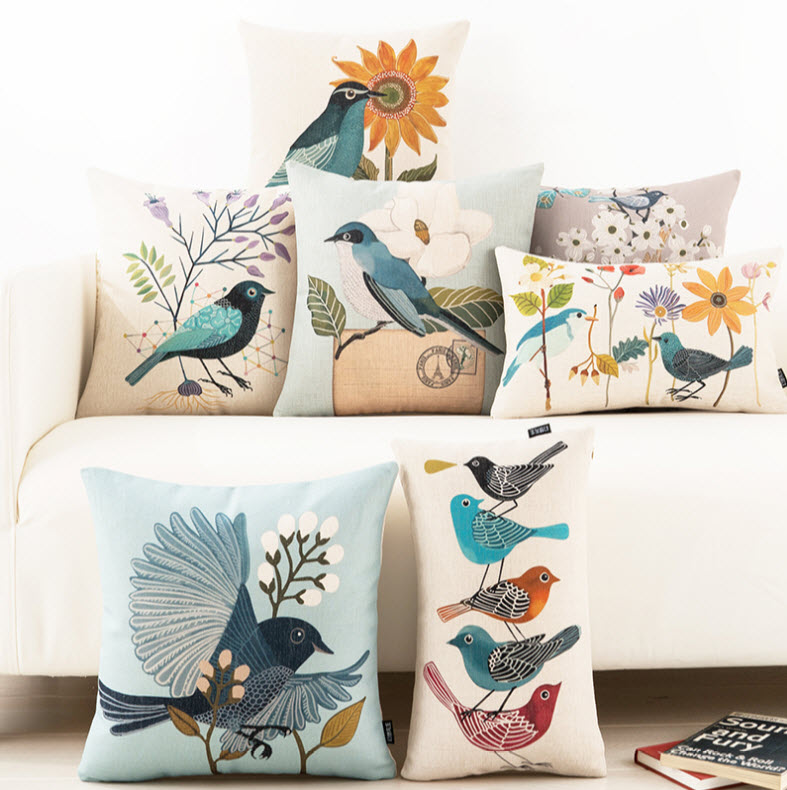 Hummingbird Bed Linen Part - 48: Hummingbird Cartoon Bird Emoji Cool Throw Massager Decorative Vintage  Lumbar Pillows Cover Pillow Case Home Decor