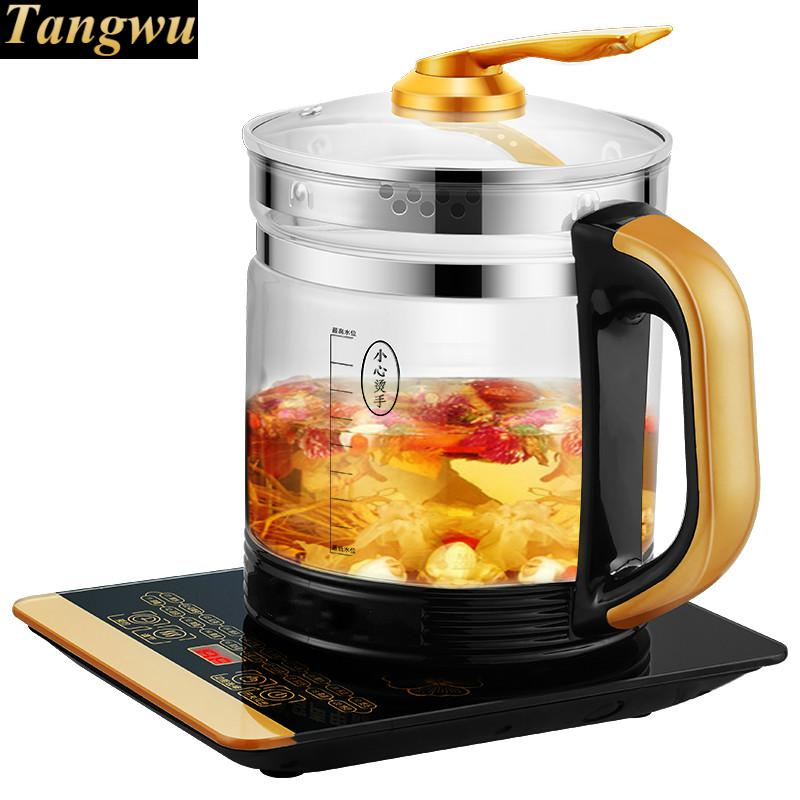 Full automatic and thickened glass multi-purpose multi-function electric heating kettle black tea brewing bear 220v electric kettle multifunctional health preserving pot decocting of tea glass thickened kettles