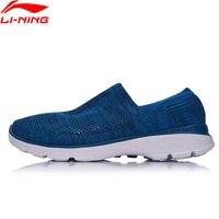 Li-Ning Dễ Dàng Walker Nam Xu Hướng Giày Đi Bộ Lót Giày Thể Thao Thoáng Khí Dệt Sneakers Ánh Sáng Đệm AGCM101 YXB061