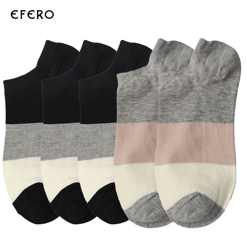 5Pair Striped Mens Socks Men Ankle Socks Chaussette Striped Male Ankle Boat Sock Calcetines Hombre Dress Socks Men Meias Homens