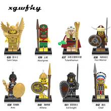 цены XGWFHY Single Sale Medieval Knight Wars goINGly Rome Knights Blue Horse Crown Building Blocks Bricks Toys for Children JM216