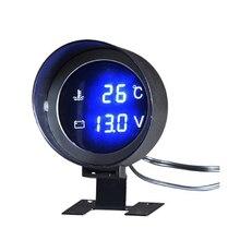 DC 12V/24V Car LCD Digital Voltmeter Water Temp Gauge Meter with Sensor