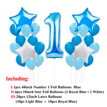 My First Birthday Air Number Party Balloons Kit