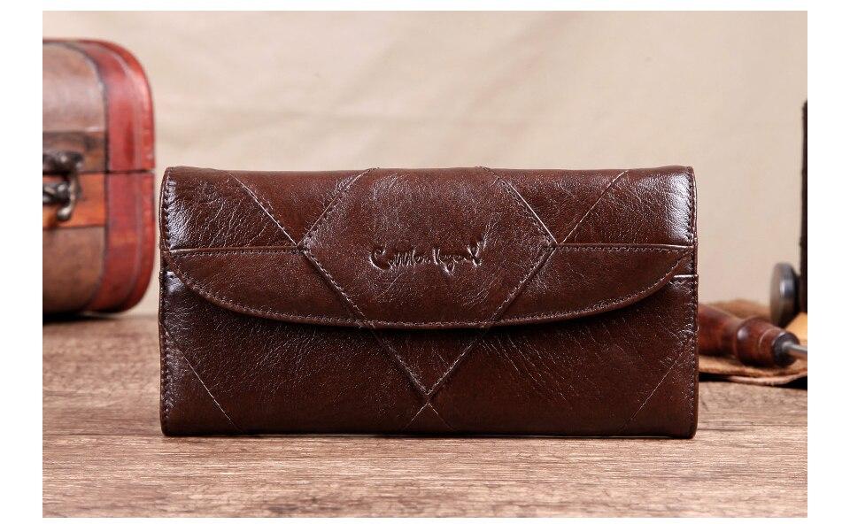 محفظة جلدية فاخرة للنساء 6