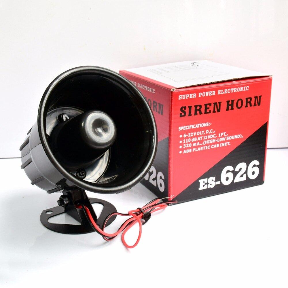 Schwarz DC12V Verdrahtete Laut Alarm Sirene Horn Außen für Home Security Schutz System alarm systeme