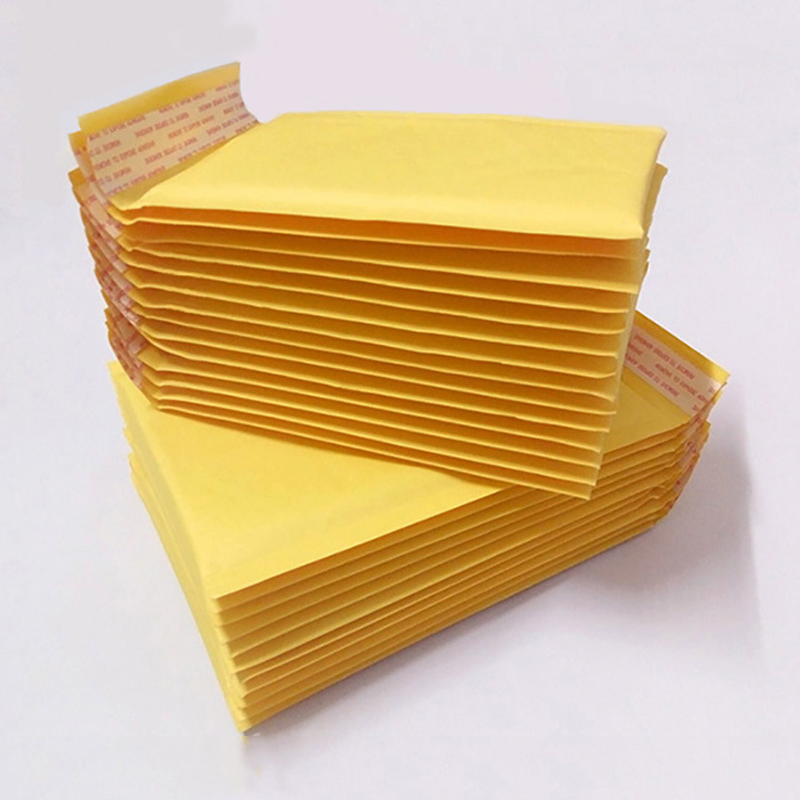 10 Pcs/lot (110*130mm) Bubble Mailers Padded Envelopes Packaging Shipping Bags Kraft Bubble Mailing Envelope Bags(China)