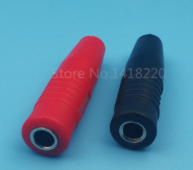 2Pair Copper 4mm Silicone Insulated Banana Female Jack Socket Plug ...