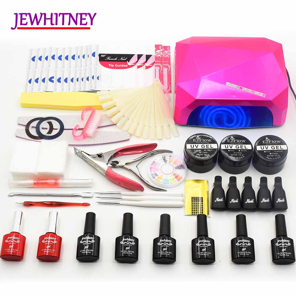 6 colors NAIL Gel Set Nail dryer LED UV Lamp Manicure Set Gel Nail Polish Kit UV Extension Kit Manicure tools Set Nail art Sets em 128 free shipping uv gel nail polish set nail tools professional set uv gel color with uv led lamp set nail art tools