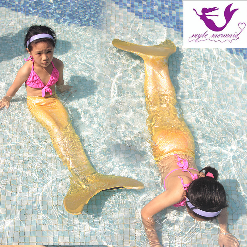 Girls Swimming Mermaid Tail costumes,2018 New Kids Ariel Fancy Princess Dress Cosplay Halloween Party children Bikini Wholesale girls mermaid swimsuit princess ariel mermaid tail for swimming children kids princess dress fishtail swimsuit 3pcs bikini set