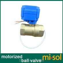 """Envío gratis 1 unids de Motorizado válvula de bola de latón, G1/2 """"DN15, 2 vías, CR02, válvula eléctrica"""