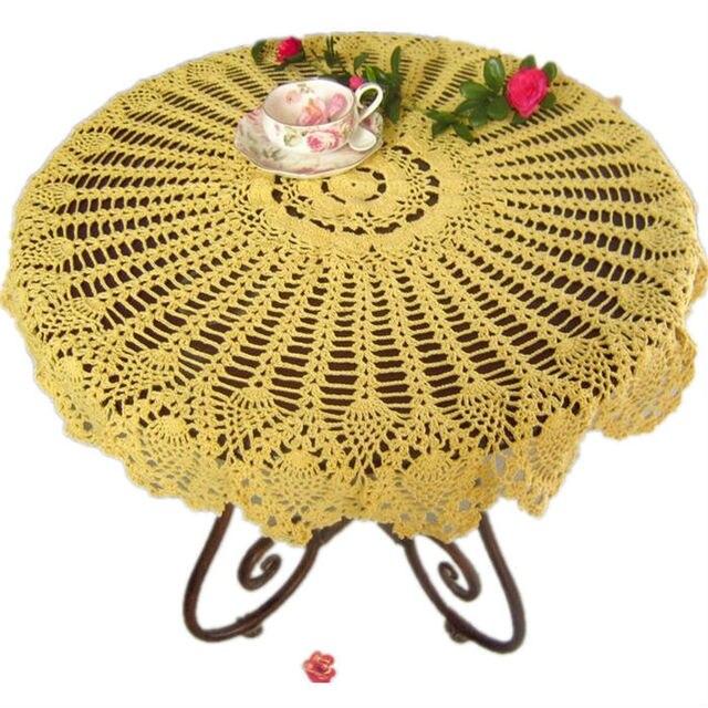 Handgemachte häkelarbeit tischdecke runde Häkeln Ananas blume ...