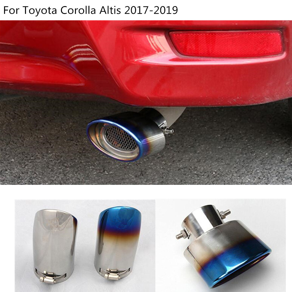 car cover muffler exterior end pipe dedicate stainless steel exhaust tip tail outlet For Toyota Corolla Altis 2017 2018 2019