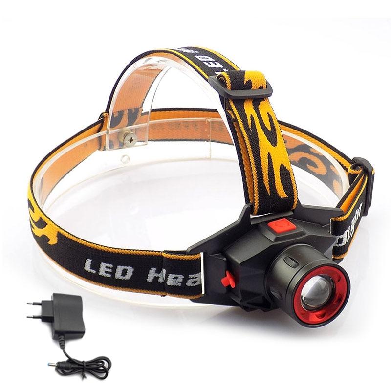 Wiederaufladbare Q5 Led Scheinwerfer Scheinwerfer Zoom Fokus Hohe Helle Stirnlampe Taschenlampe Frontale Taschenlampe Laterne Camping Wandern Angeln