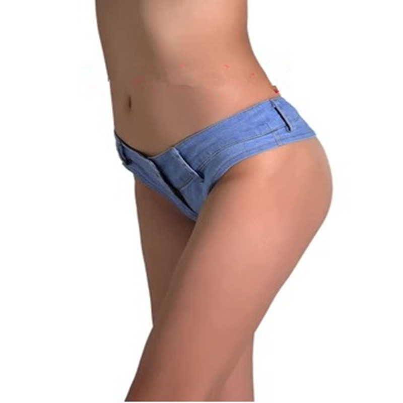 Hot Sexy Women Jean Denim Booty Shorts Feminino Low Rise Waist Micro Mini Short Hotpant Bottom