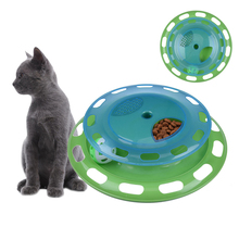 Creative Pets Cats Toys with Ball Track Kitten Mat Pad Interactive Play Funny Toys Kitten Products for Pets Training 1pcs 2016