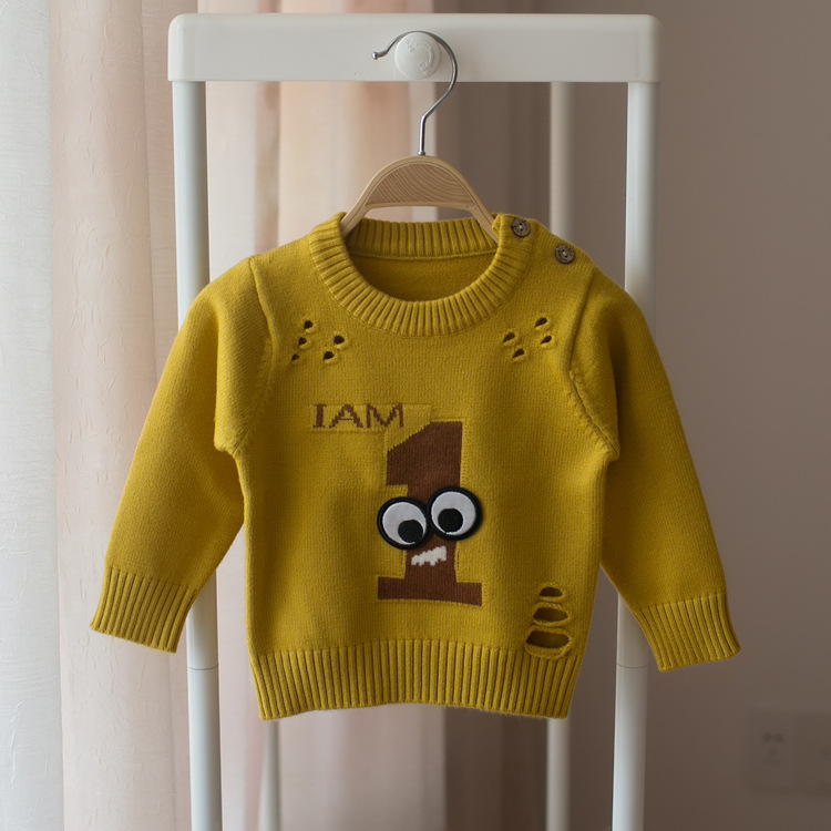 93450b672 Hot 2018 spring and autumn children s long sleeved sweater boys and ...