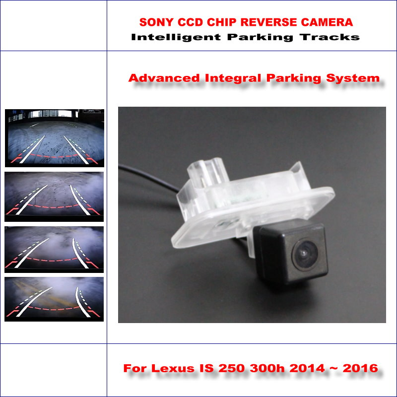 Intelligentized Back Up Reversing Camera For <font><b>Lexus</b></font> <font><b>IS</b></font> <font><b>250</b></font> 300h <font><b>2014</b></font> 2015 2016 Rear View Camera Dynamic Guidance Lines Tracks image