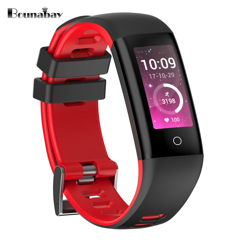 BOUNABAY Bluetooth 4.0 Smart woman watch for apple android phone waterproof Heart Rate Pedometer Clock Touch women Clocks bounabay heart rate monitor smart bracelet watch women bluetooth for apple android ios phone woman touch clock ladies watches