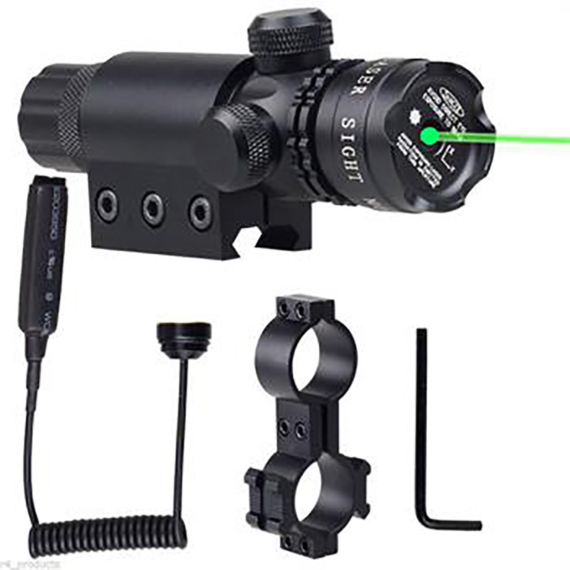 Powerful Green Dot Laser Sight Rifle Gun Scope Weaver Rail+Remote Switch For Hunting