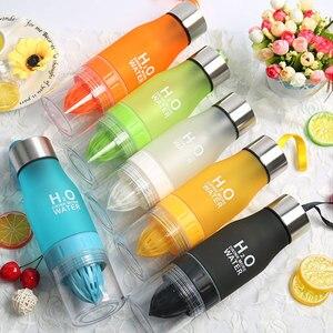 Shaker Portable Fruit Infusing Infuser Water Bottle Sports Lemon Juice Bottle Flip Lid for Kitchen Table Camping Travel Outdoor