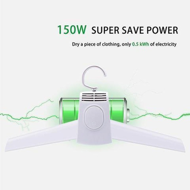 Portable Clothes Dryer Rack 150W Power Samrt Electric Clothes Dryer Electric Hanger for Traveling Foldable Clothes Drying Rack 2