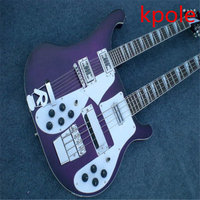 Hot Products! Kpole double neck 12 string electric guitar 4 string electric bass hot free shipping