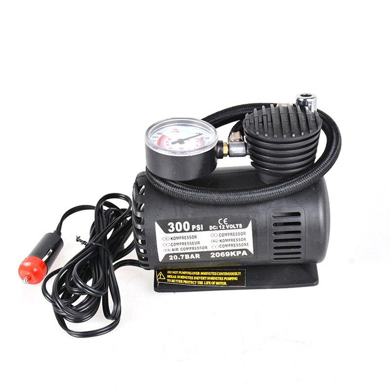 300 PSI Mini Air Compressor 12V Car Auto Portable Pump Tire Inflator W/gauge New VS998