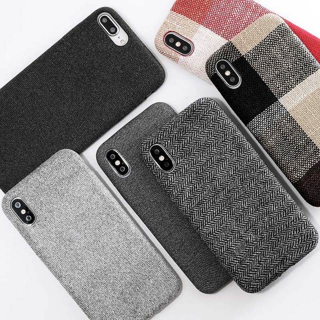 SoCouple Cloth Texture Soft case For Iphone
