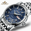 AESOP Business Watch Men Automatic Mechanical Sapphire Crystal Blue Wristwatch Stainless Steel Male Clock Relogio Masculino