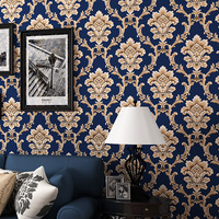High Quality 0 53m 10m Modern Luxury 3d Wallpaper Roll Mural Papel De Parede Flocking For