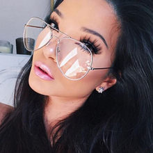 2017 New Fashion Metal Full Frame Women Glasses Men Reading Clear Titanium Glasses Brand Design Gold Frame Sun Glasses