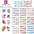 2016 New BJC188-198 11 sheet/SET Tip Nail Art Glitter Flower Nail stickers for nails Nail Decal Manicure Flower for Women