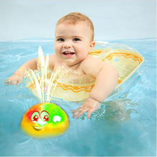 1Pc New Bathroom Baby Bath Toys Electric Inductive Spray Water Ball with Light Bathtub Swimming for Toddler Infant Children
