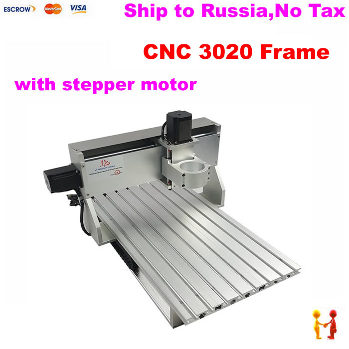 assembled 3020 CNC frame mini lathe machine kit with stepper motor limit switch