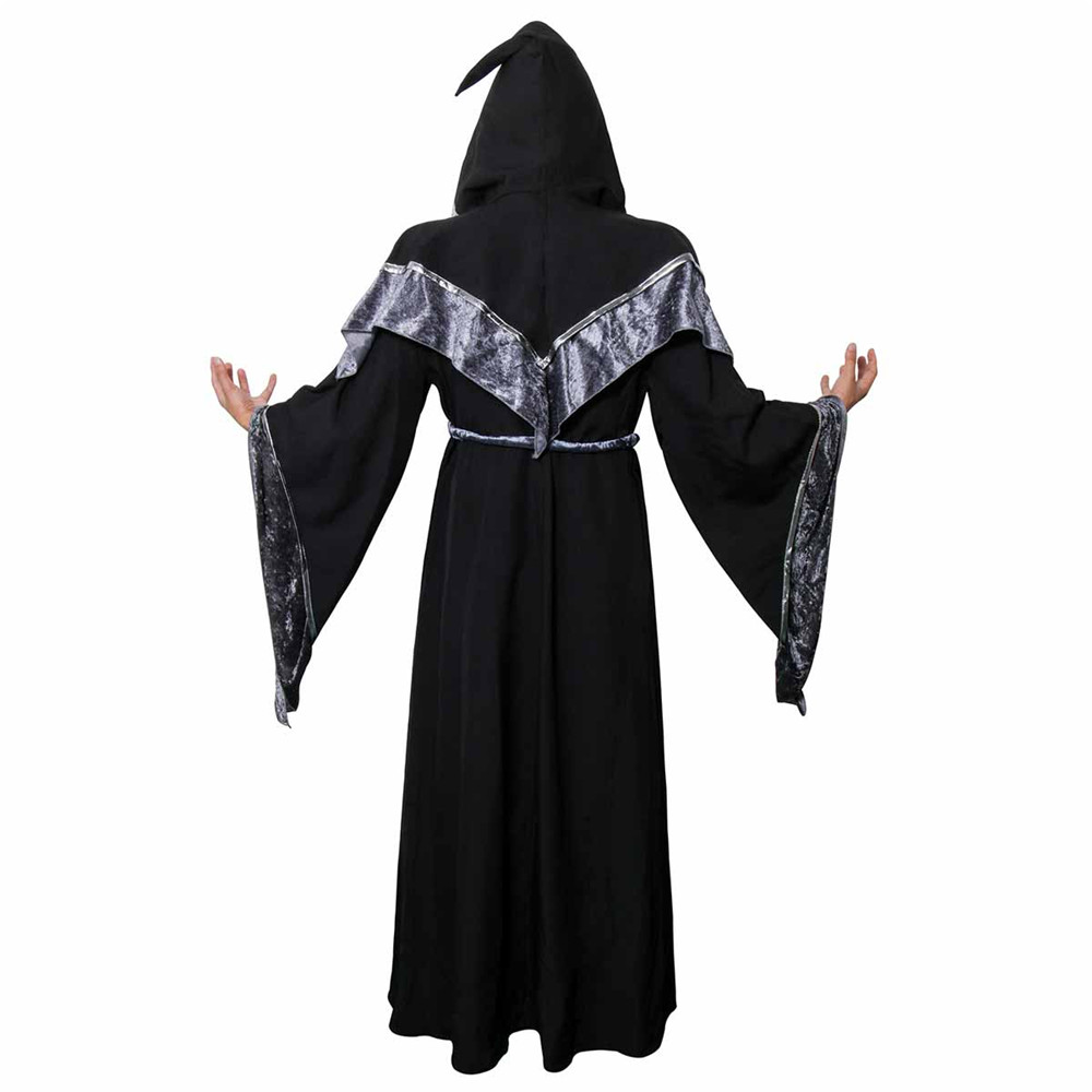 Adult Men Wizard Priest Outfit Dark Sorcerer Robe Monk Robe Religious Godfather Wizard Costume Halloween Devil Witch Cosplay-in Holidays Costumes from ...  sc 1 st  AliExpress.com & Adult Men Wizard Priest Outfit Dark Sorcerer Robe Monk Robe ...