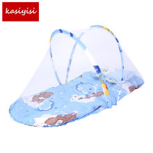 Baby Bed Nets Folding Mosquito Nets Infants Young Children Sleeping Pad Pillow Bedspread Mosquito Net Cartoon Cotton Bedspread(China)