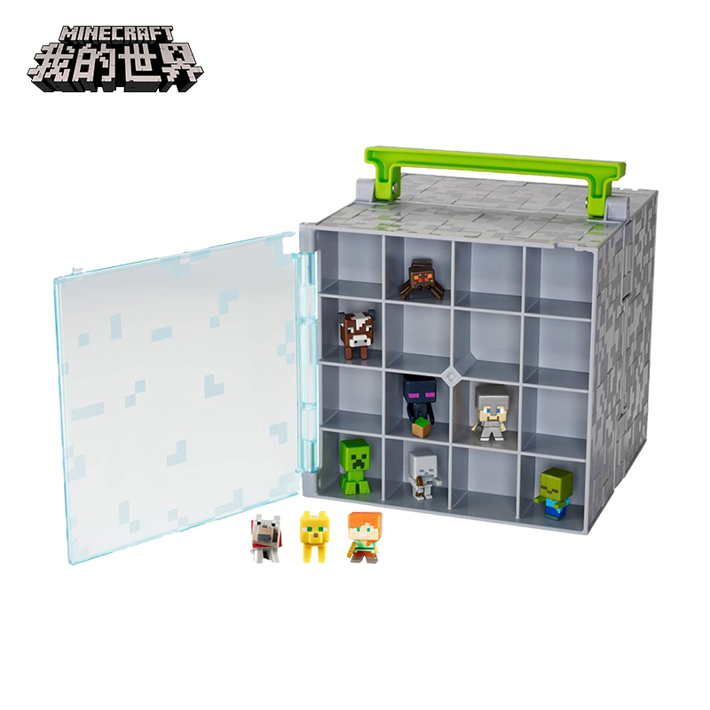 цена на Minecraft Dolls Coolie Doll Collection Case with 10 Pcs Mini figures for Kids Gift Toys