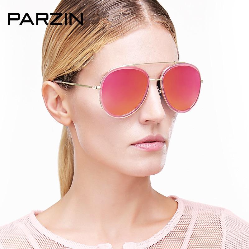 348f0ead1495bd Parzin lunettes de Soleil Polarisées Femmes En Métal Coloré Hommes Lunettes  De Soleil des Femmes Lunettes de Soleil Lunettes de Conduite Du Pilote Avec  Cas ...