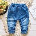 De los Bebés del otoño de Mezclilla Pantalones Vaqueros de Cintura Elástica Pantalones Harem Ocasional Niños Encuadre de cuerpo entero Pantalones roupas de bebe